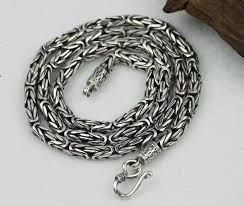 handmade silver necklace images Handmade tibetan silver necklace sterling silver longevity jpg
