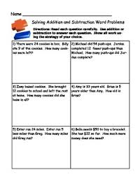 subtraction word problems grade 2 math activity addition and subtraction word problem sort
