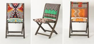 Ikat Armchair Pattern Anthropologie Folding Ikat Chairs U2013 Design U0026 Trend Report