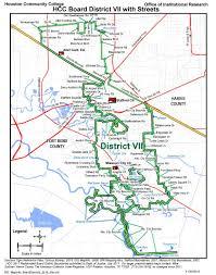 University Of Houston Campus Map District Vii Street Map Houston Community College Hcc