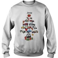 jeep christmas shirt jeep christmas tree sweater hoodie longsleeve t shirt jeep
