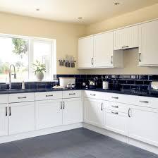 white kitchen design black tile kitchen floors sweet home pinterest black tiles