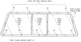 Leer Canopy Replacement Glass by Patent Us6286891 Removable Front Camper Shell Window Assembly