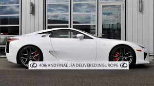lexus lfa buy usa last lexus lfa delievered in europe photo gallery