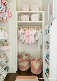 pink nursery shelves design ideas