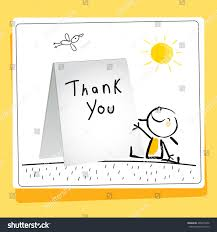 kids thank you cards kids thank you card vector illustration stock vector 465673436