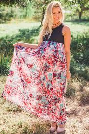 black lace pleated floral chiffon maxi dress