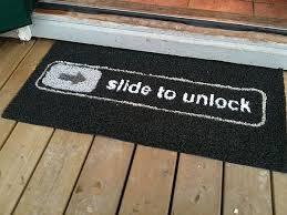 doormat funny the funny slide to unlock doormat
