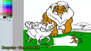 lion king online coloring pages simba timon and pumbaa 53