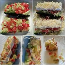 recette cuisine courgette recette de courgette farcie au concombre et tomate gratinée au
