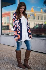 orange and blue combination aztec plains cardigan navy orange the mint julep boutique
