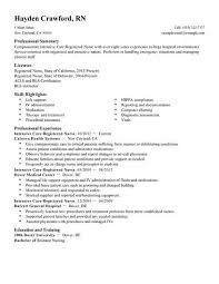 Resume For Charge Nurse Examples Of Nurse Resumes Sample Rn Resume Interesting Graduate