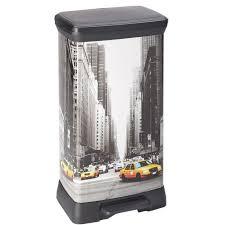 poubelle de cuisine 50l curver poubelle à pédale 50l york achat vente poubelle