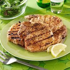 barbecued pork chops with rosemary lemon marinade recipe taste