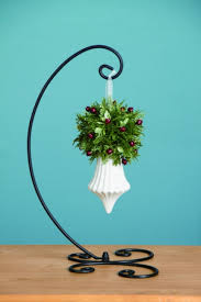 black metal single ornament display stand 14 inches
