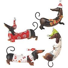 raz imports dachshund ornaments set of 4 home
