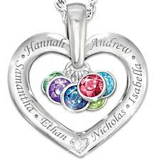 s day necklace with birthstone charms our family is held together by birthstone and name necklace