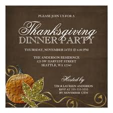 thanksgiving dinner invitations zazzle