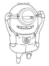 minion printables childrens drawing free activities minion