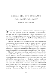 Example Of A Memoir Essay Marian Elliott Koshland Biographical Memoirs Volume 90 The