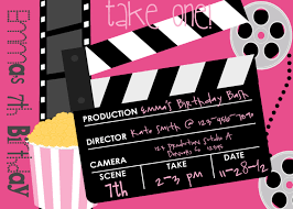 Birthday Cards Invitations Hollywood Birthday Party Invitations Vertabox Com
