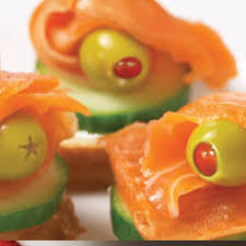 healthy canapes recipes salmon and olive canapes starfinefoods