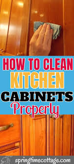 how to clean wood kitchen cabinets without damaging the finish pin on cleaning hacks