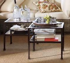 Coffee Table Cube Cube Table Bronze Finish Pottery Barn