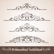 vintage curly ornaments collection vector clipart image 28729