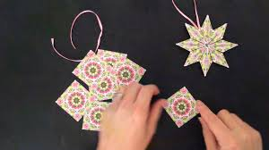 paper star ornament teabag folding tutorial youtube