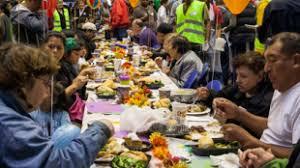 westside thanksgiving community dinner celebration cbs los angeles