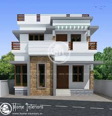 1032 Sq Ft Contemporary Double Floor Home Design Home Interiors