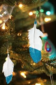 How To Make Homemade Ornaments by Dipped Feather Ornaments Frugal Mom Eh