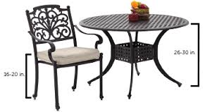 Standard Kitchen Table Height by Outdoor Table U0026 Chair Height Buying Guide Ultimate Patio