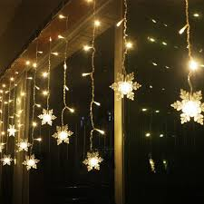 3 8m led curtain snowflake string lights led lights 8 modes
