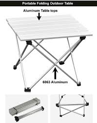 Small Portable Folding Table Camping Furniture Small Side Barbecue Folding Tables Outdoor