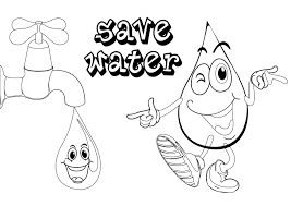 save water coloring pages coloring pages poster