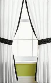 Black Linen Curtains Trend Of White Curtains With Black Trim And Black And White And