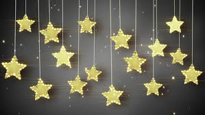gold hanging stars christmas lights computer generated seamless