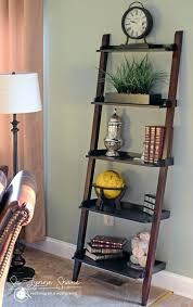 24 Ladder Bookshelf Plans Guide short leaning ladder shelf ldnmen com