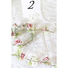 chic vintage style heart wedding table number holder tall