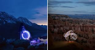 Light Painting Landscape Photography Photographer Road Trips The Us With His And Led