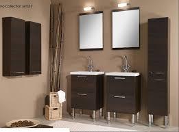 2 brown wood bathroom vanities under 2 bathroom wall mirror with