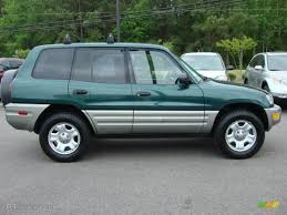 deep jewel green 2000 toyota rav4 standard rav4 model exterior