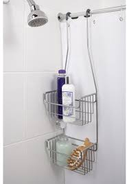 bathroom stainless steel corner shower caddy with blue merola