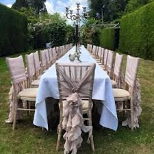 table and chair cover rentals vintage chiffon ruffle chair hoods set up by ellis events