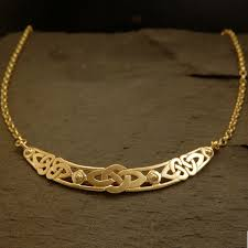 bespoke gold jewellery bespoke yellow gold celtic knot choker necklace by