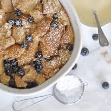 cooking with manuela homemade blueberry bread pudding