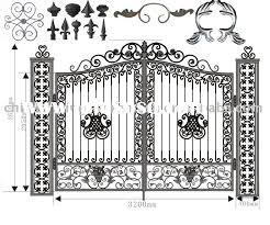 cast iron fence components decorative iron works ornamental iron