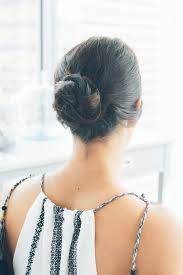 a simple u0026 easy updo hairstyle lows luxe